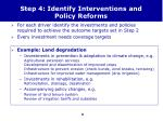step 4 identify interventions and policy reforms