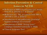 infection prevention control issues in nuth