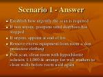 scenario 1 answer