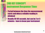 2nd key concept instrument response time