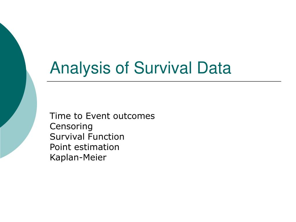 analysis of survival data l.