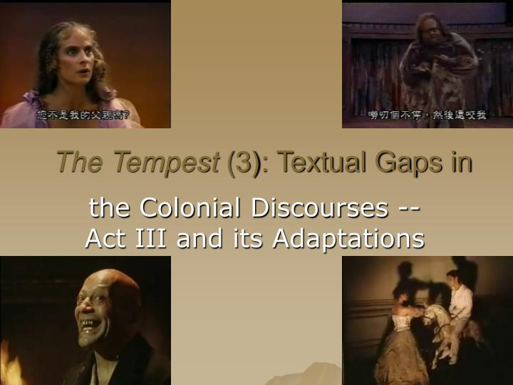 the tempest allegorical to the bible essay The tempest is not a pure fantasy tale, but a purposeful allegory the characters in the play are all representative of characters found in the bible the first, and perhaps most persuasive, arguement would be prospero symbolizing god.