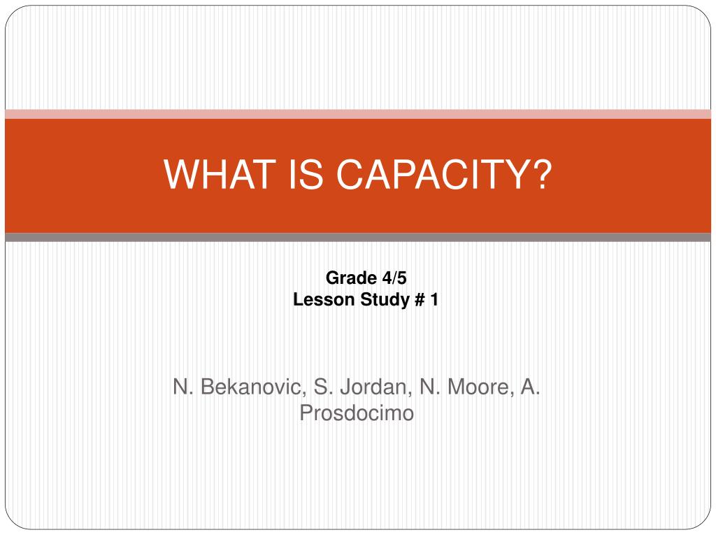 what is capacity l.