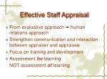 effective staff appraisal