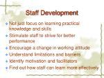staff development