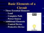 basic elements of a circuit