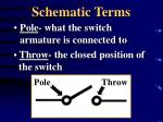 schematic terms