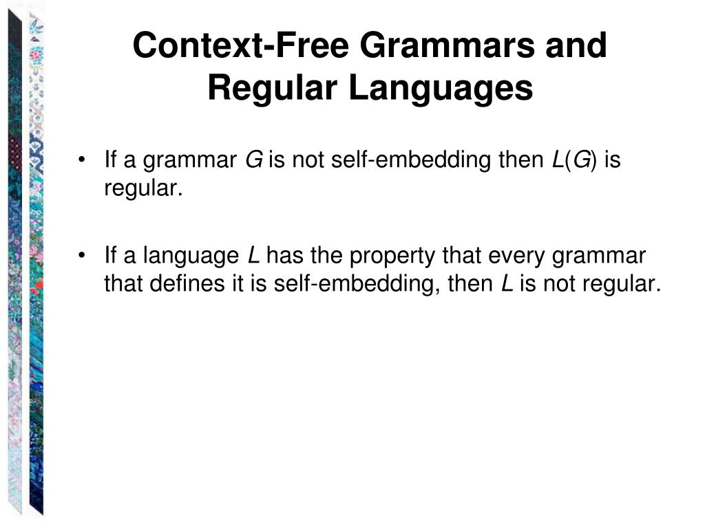 Context-Free Grammars and Regular Languages