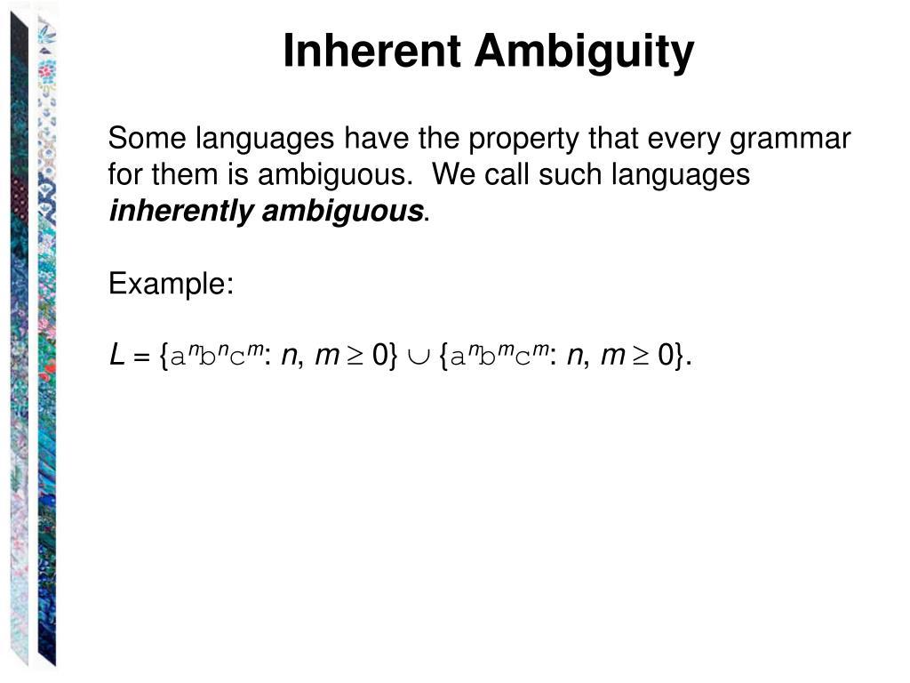 Inherent Ambiguity