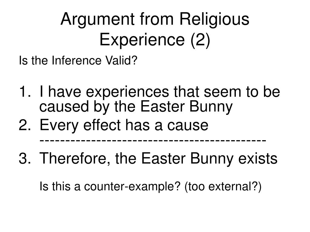 Argument from Religious Experience (2)
