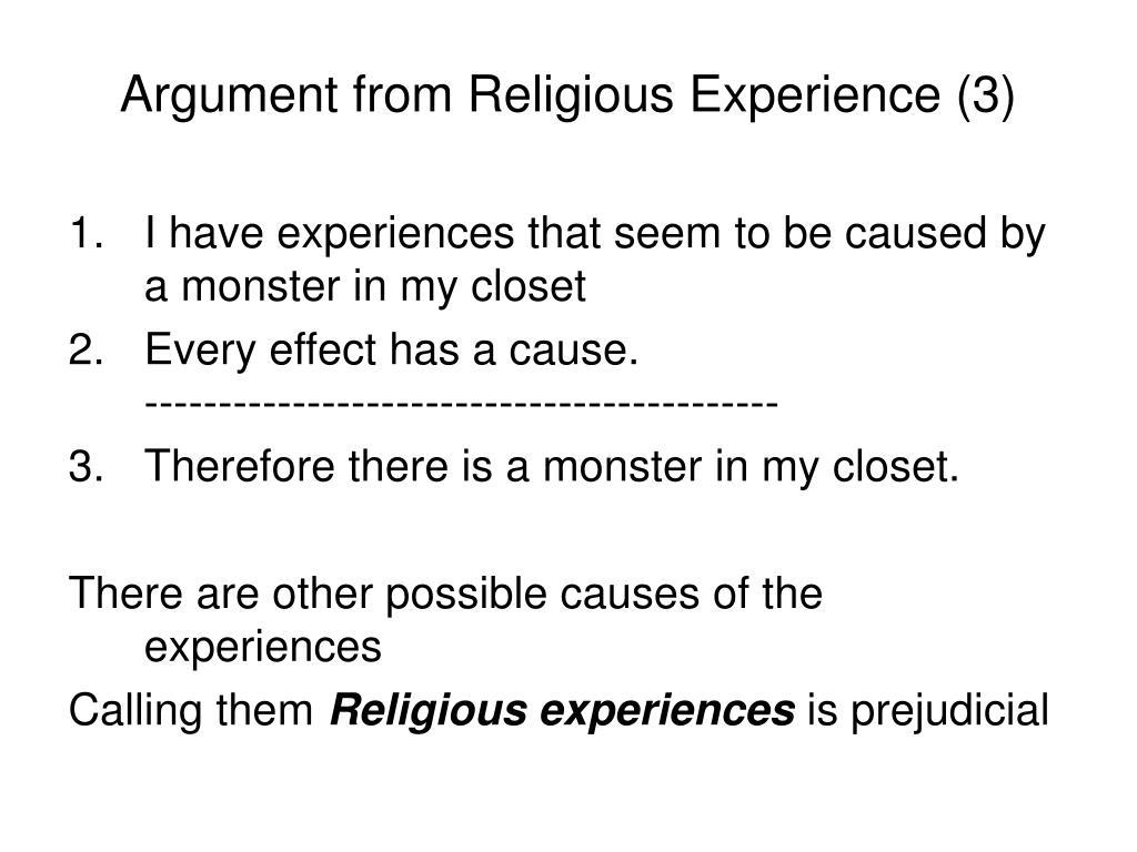 Argument from Religious Experience (3)