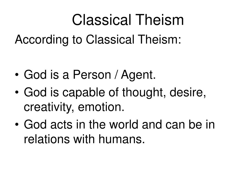 Classical Theism