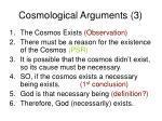 cosmological arguments 3