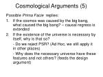 cosmological arguments 5