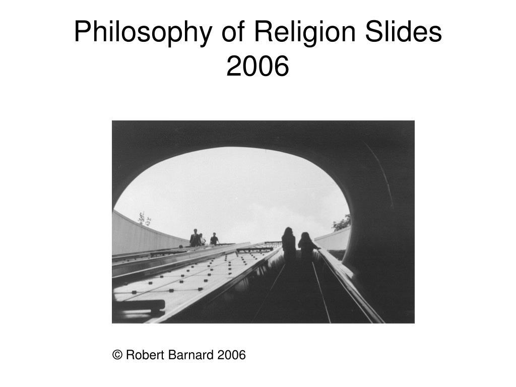 Philosophy of Religion Slides