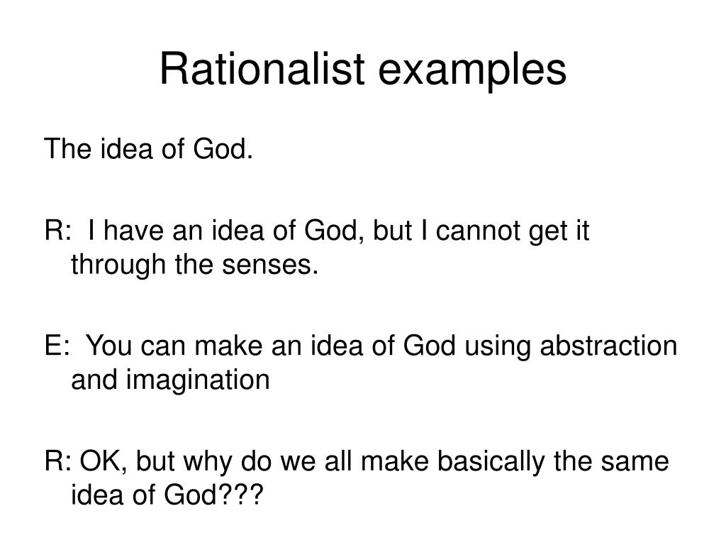 Rationalist examples