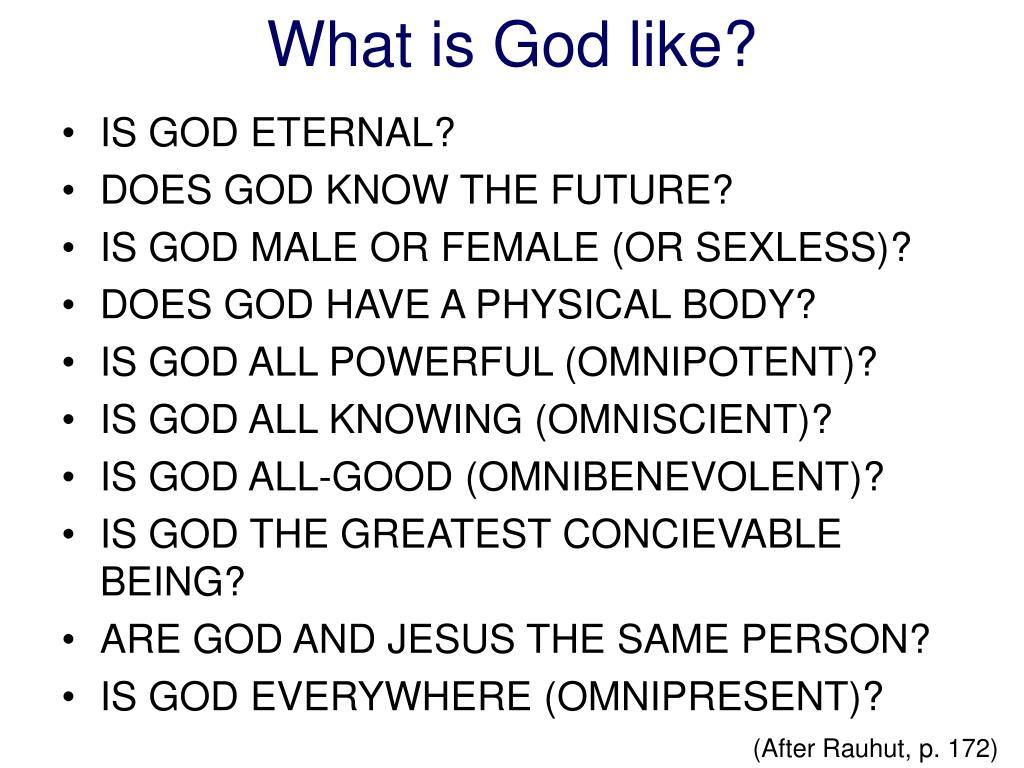 IS GOD ETERNAL?