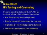 clinic based hiv testing and counseling