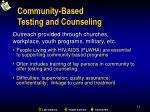 community based testing and counseling