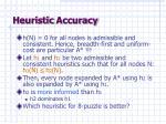 heuristic accuracy