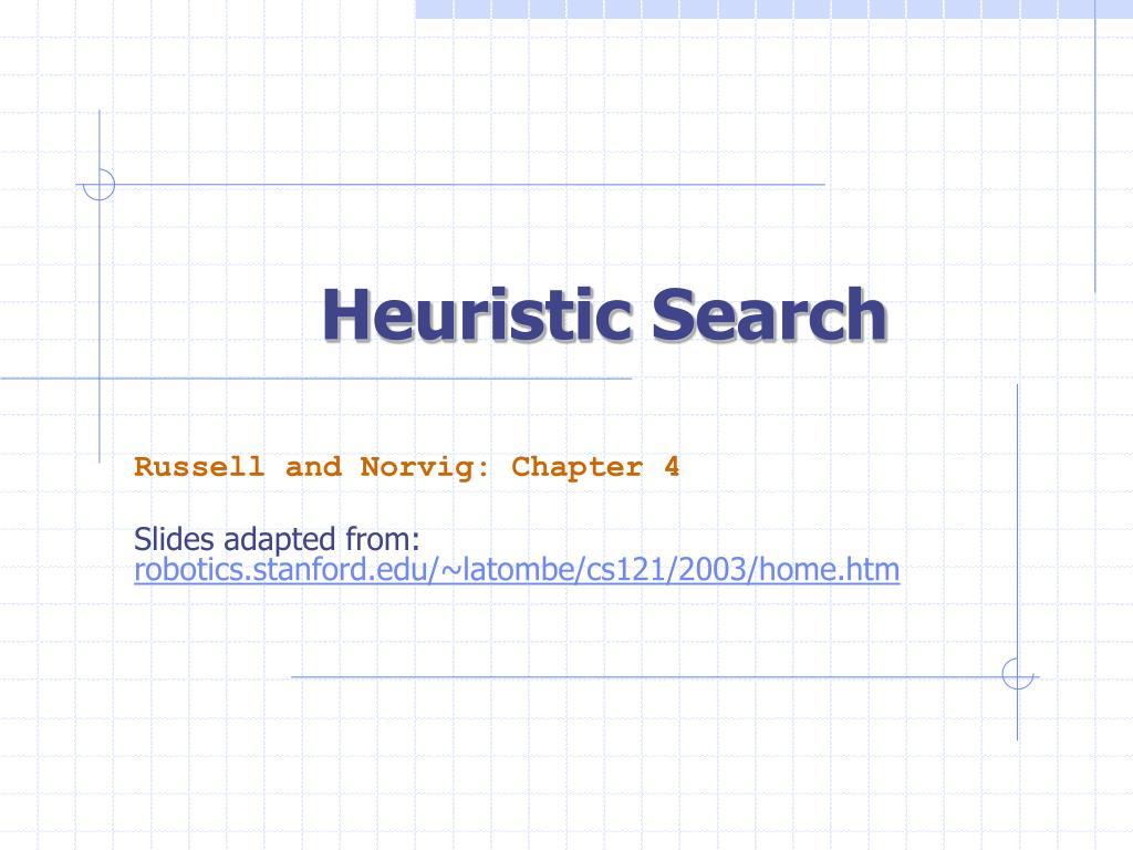 heuristic search l.