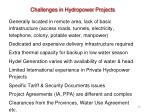 challenges in hydropower projects43