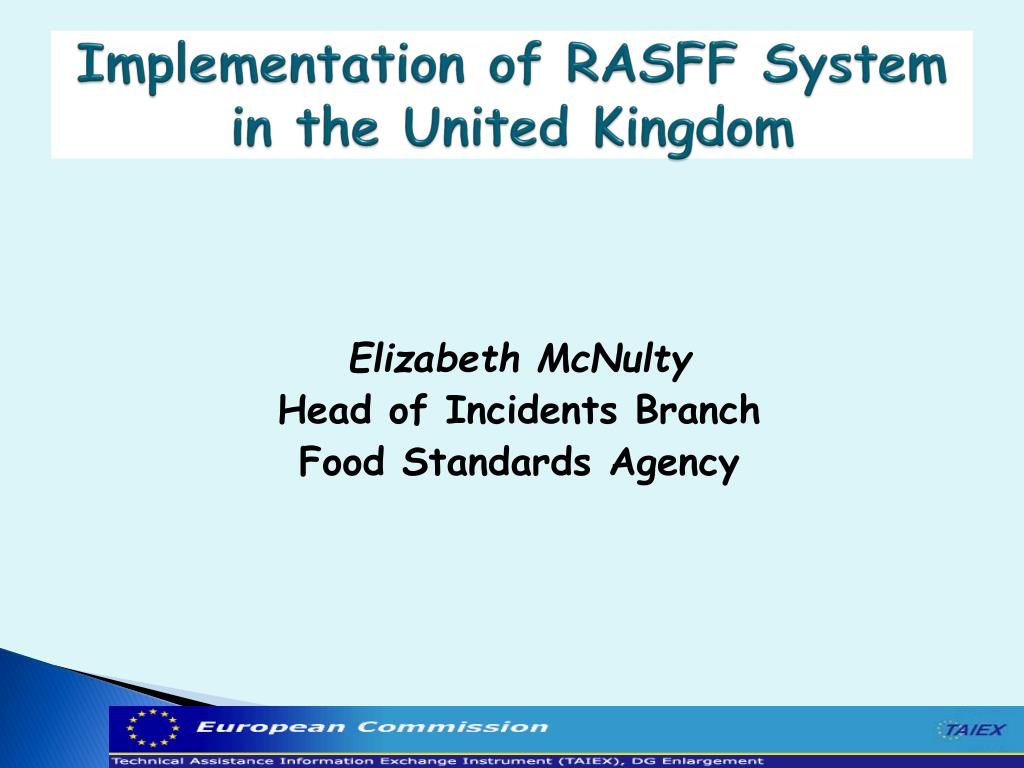 implementation of rasff system in the united kingdom l.