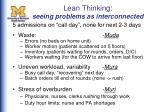lean thinking seeing problems as interconnected