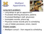 medsport appointments