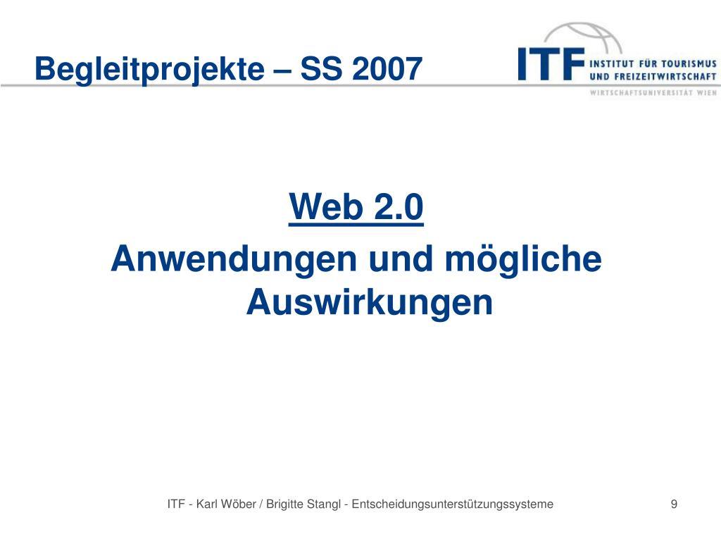 Begleitprojekte – SS 2007