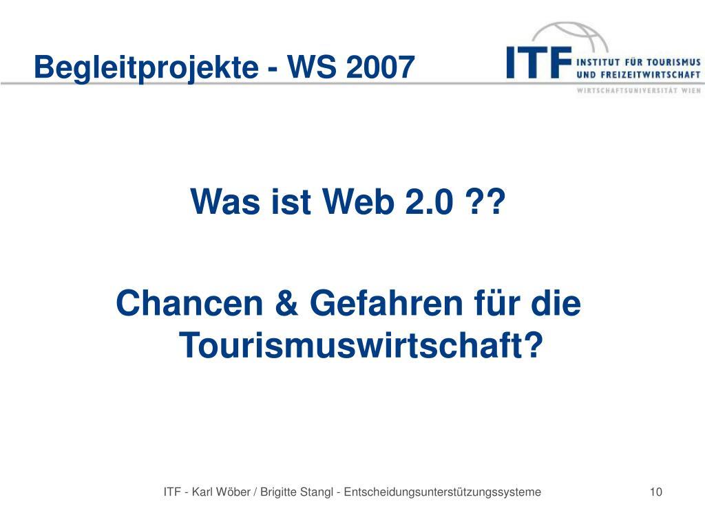 Begleitprojekte - WS 2007