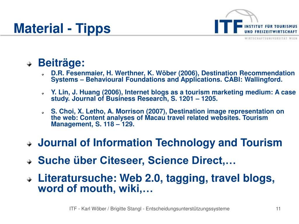 Material - Tipps