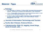 material tipps