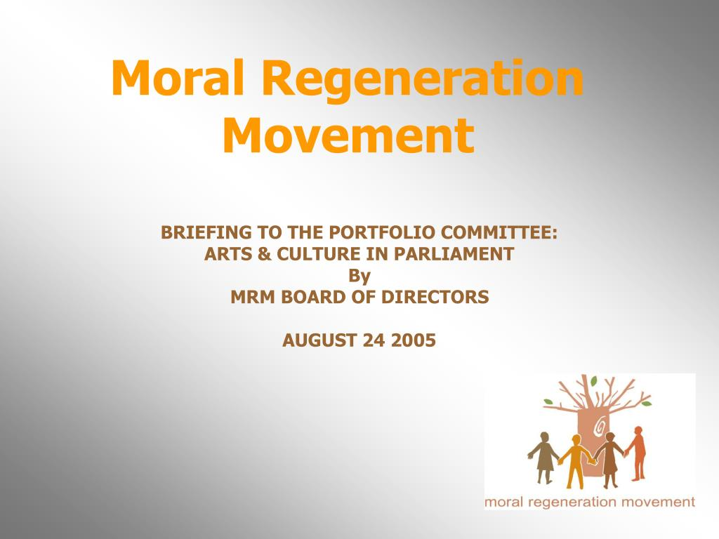 moral regeneration movement l.