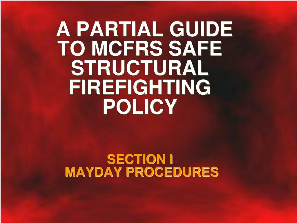 section i mayday procedures l.
