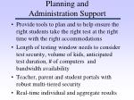 planning and administration support