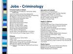 jobs criminology