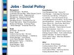 jobs social policy20