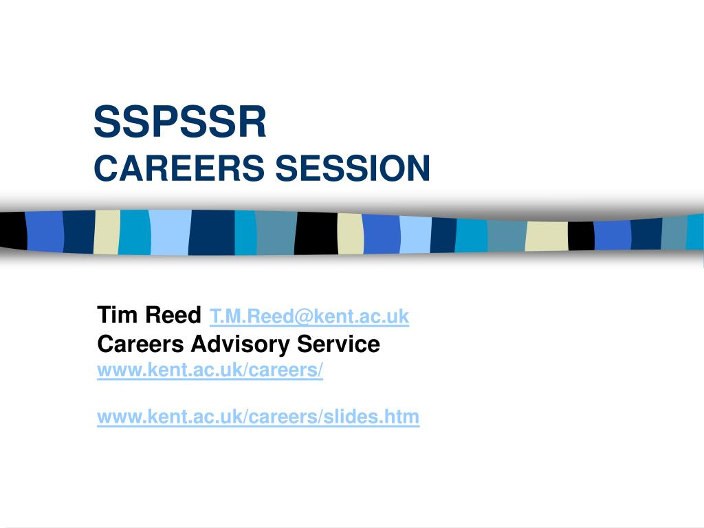 sspssr careers session l.