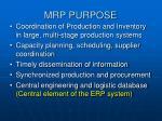 mrp purpose