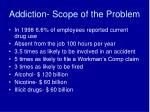 addiction scope of the problem
