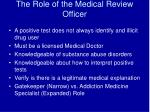 the role of the medical review officer