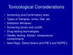 toxicological considerations