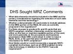 dhs sought mrz comments11