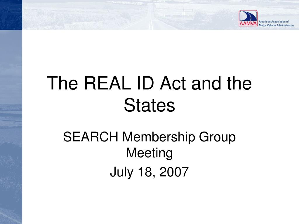 the real id act and the states l.