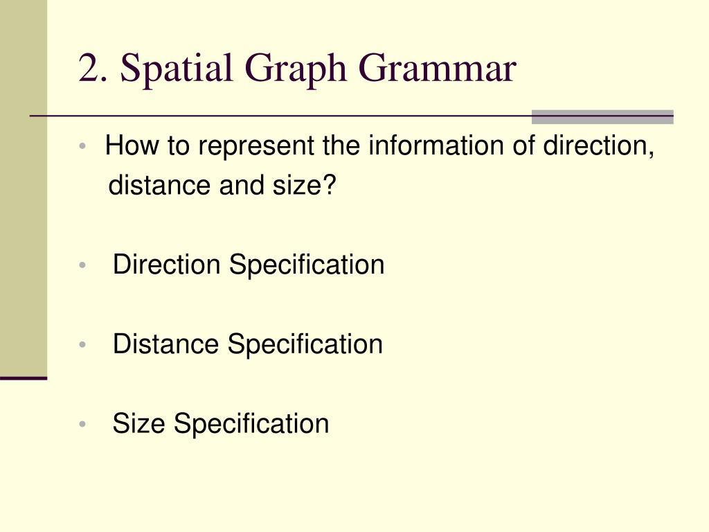 2. Spatial Graph Grammar