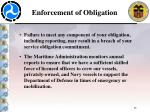 enforcement of obligation
