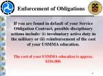 enforcement of obligations