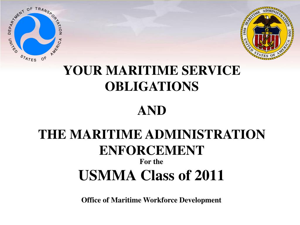 for the usmma class of 2011 l.