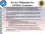 service obligations for usmma graduates